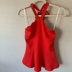 Red Lulu's Peplum Top